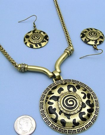 Fun Tribal Necklace and Earring Set