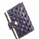 Fun Purple Diamond Patterned Print Wallet