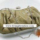 Fabulous Taupe Croc Pattern Clutch