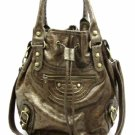 Fabulous Tall Bronze Satchel