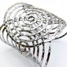 Fabulous Silver Large Circles Cuff Bracelet
