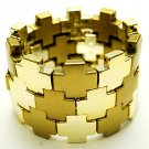 Fabulous Gold Tone Squares Bracelet