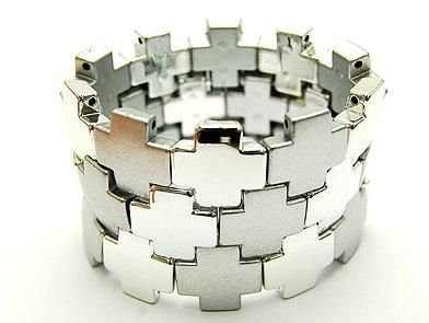 Fabulous Silver Tone Squares Bracelet