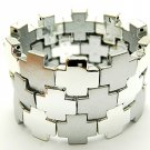 Fabulous Silver Tone Squares Bracelet