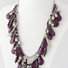 Flirty Purple Bead Necklace