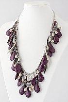Flirty Purple Bead Necklace
