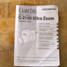 Olympus C-2100 digit camera English instruction manual