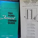 1981 Ford Fairmont Owner's Guide