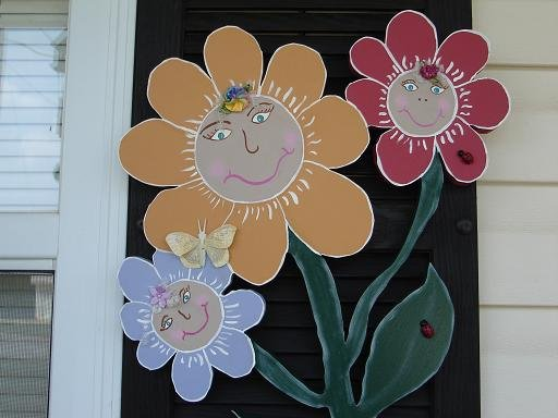 Flower Faces Outdoor Decoration