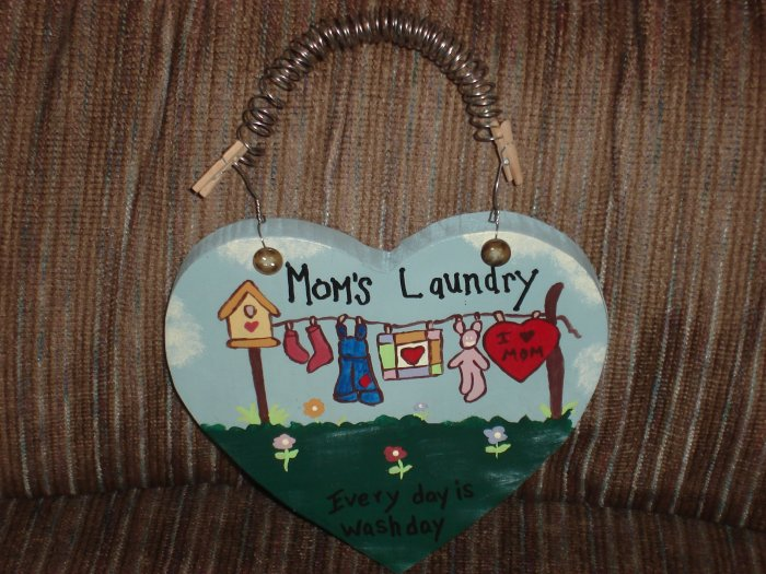 """Moms Laundry"" Sign"
