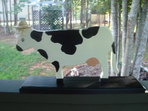 Cow on a stand