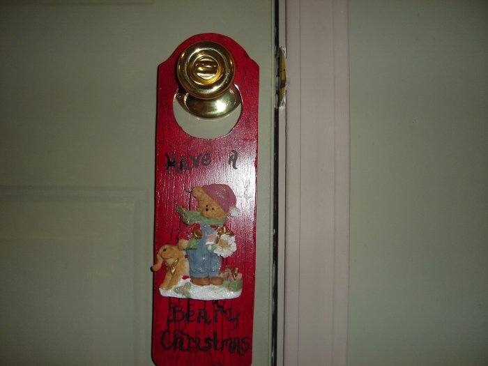 """Beary Christmas"" Door Hanger"