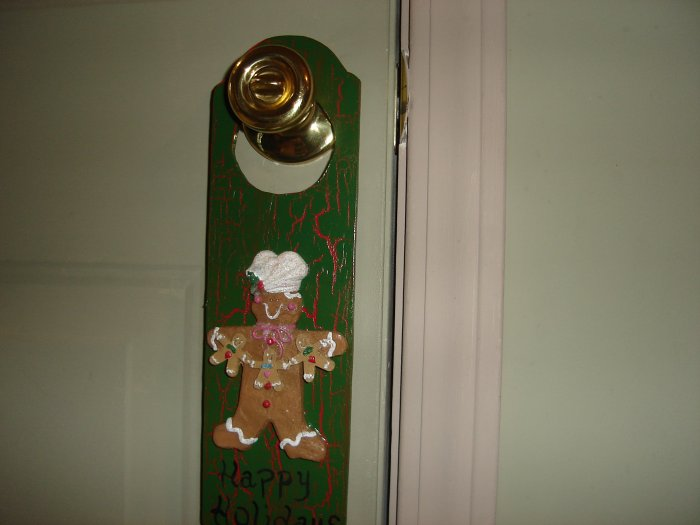 """GingerBread"" Door Hanger"