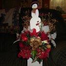 Snowman floral arrangement