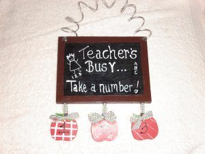 """Teachers Busy"" Chalk Boards"