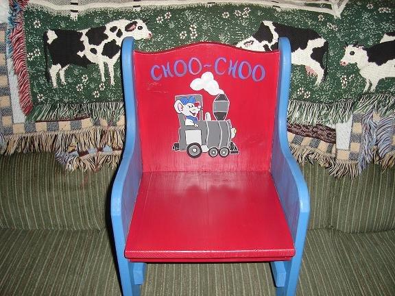 """""""Choo Choo"""" Childrens Chair"""