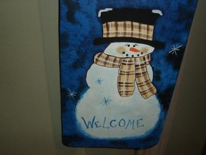 Snowman Welcome Hanger