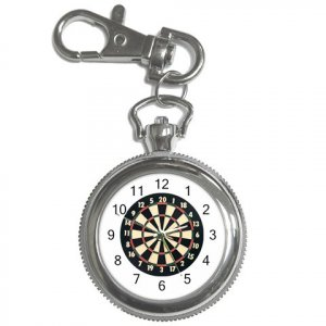 New Dart Board Clock Face Key Chain Pocket Watch 14417134