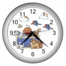 NOAH'S ARK Baby Print Wall Clock Nursery Home Decor Gift Time 17760217