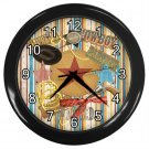 WESTERN COWBOY  Print Wall Clock Nursery or Bedroom Home Decor Gift Time 17768515
