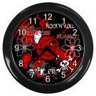ROCK and ROLL Print Wall Clock Home Decor Gift Time 18900030