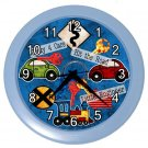 Boys CARS Print Wall Clock Boy's Room Home Decor Gift Time 18901464