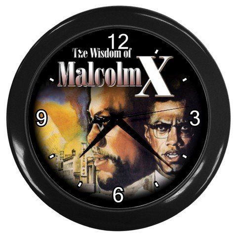 malcolm x print wall clock home decor office gift time