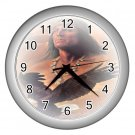Silver frame NATIVE AMERICAN Brave Print Wall Clock, Home Decor, Office Gift Time 18984962