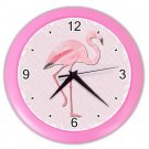 PINK FLAMINGO Beach Print Wall Clock, Home Decor, Office Gift Time 19035753