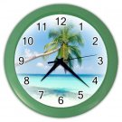 PALM TREE BEACH Print Wall Clock, Home Decor, Office Gift Time 19035809