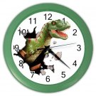T-REX DINOSAUR Print Wall Clock, Boys Room Home Decor, Office Gift Time 19989660
