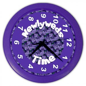 FUNNY NEWLYWEDS Wall Clock, Home Decor, Office Gift Time 20505013