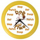 FUNNY DOG TIME Wall Clock, Home Decor, Office Gift Time 20505204