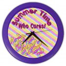 FUNNY SUMMERTIME Wall Clock, Home Decor, Office Gift Time 20505251