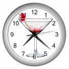 CHERRY and MARTINI GLASS DESIGN Wall Clock, Home Decor, Bar Clock, Kitchen Clock, Gift Time 20571762