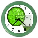 LIME GREEN GLASS DESIGN Wall Clock, Home Decor, Bar Clock, Kitchen Clock, Gift Time 20572015