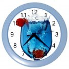 BLUE DRINK GLASS DESIGN Wall Clock, Home Decor, Bar Clock, Kitchen Clock, Gift Time 20572016