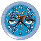 BLUE FACE ABSTRACT ART Wall Clock, Home Decor, Business, Office, Gift Time 20572669