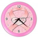 PINK BREAST CANCER RIBBON Wall Clock, Home Decor, Business, Office, Gift Time 20572693