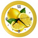 LEMONS Kitchen Wall Clock, Home Decor, Business, Office, Gift Time 20573958