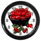 BOWL OF CHERRIES Kitchen Wall Clock, Home Decor, Business, Office, Gift Time 20574253