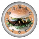 HAMBURGER SANDWICH Kitchen Wall Clock, Home Decor, Business, Office, Gift Time 20574530