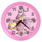 Pink GIRLS PRINCESS Print Wall Clock Nursery Home Decor Gift Time 20575146