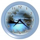 BLUE LAKE Print Wall Clock, Home Decor, Office Gift Time 20575415