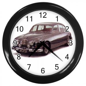 Jaquar MK II Black Wall Clock Home Decor Office Gift Time 15725014
