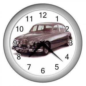Jaquar MK II Silver Wall Clock Home Decor Office Gift Time 15725015
