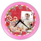CUSTOM Baby Photo Pink frame Design Wall Clock Home Decor Office Gift Time 19377841