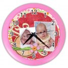 Baby CUSTOM Photo Pink frame Design Wall Clock Home Decor Office Gift Time 19377844