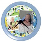 Photo CUSTOM Baby Boy Blue frame Design Wall Clock Home Decor Office Gift Time 19378788