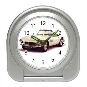 BMW 1956-1959 Silver Compact Travel Alarm Clock 15724879